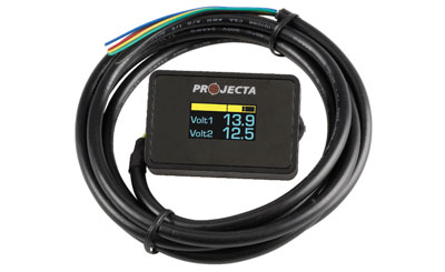 the 12 volt shop 12v dual battery voltmeter