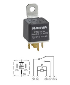 The 12 Volt Shop Narva Spotlight Relay Wiring Diagram on