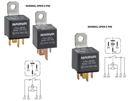 normal open relays jpg the 12 volt shop manufactured in eoruope to very exacting original equipment standards all relay wiring